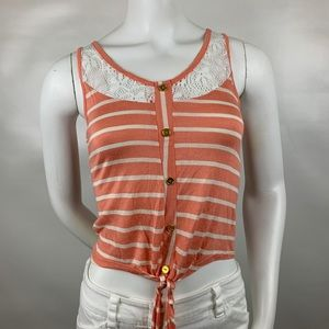 3For$20 Charlotte Russe. Peach/White  Top size S